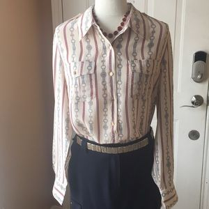 TORY BURCH long sleeve shirt size 14